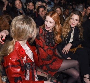 Celebrities at the Coach Woman's Fall 2017 Show